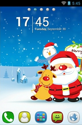 Lovely Santa Android Theme