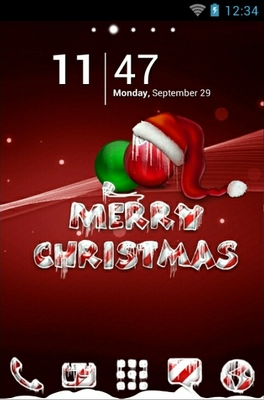 Icy Christmas Red Android Theme