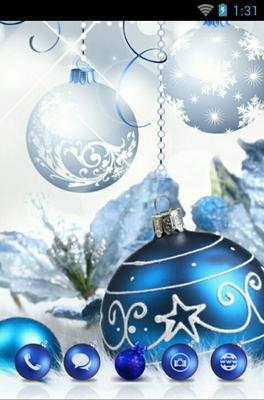 Christmas Balls Android Theme