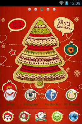 Christmas Tree Android Theme for Go Launcher