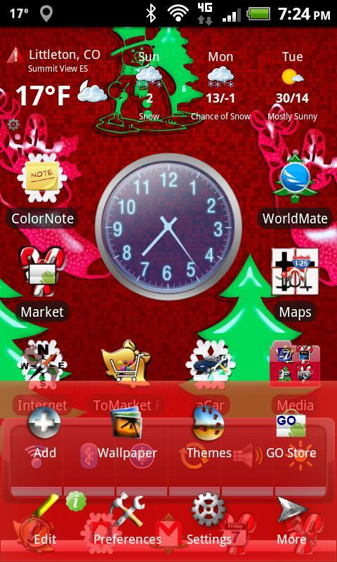 Xmas Android Theme for Apex Launcher